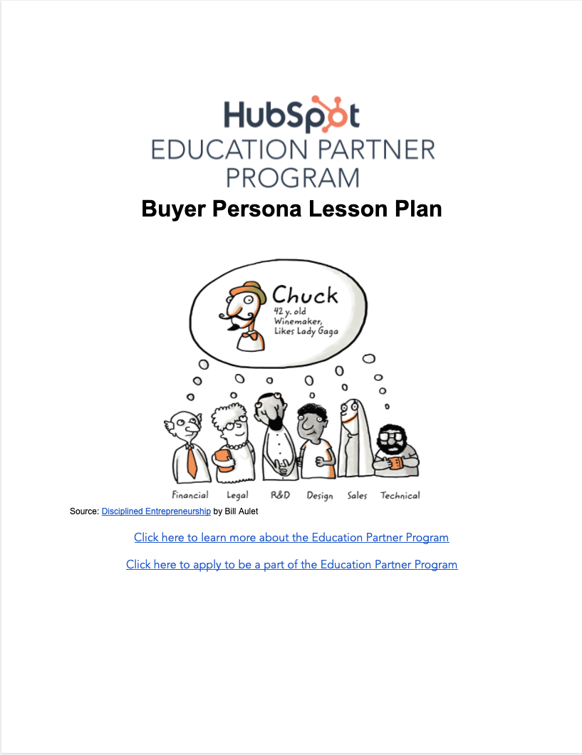 Buyer Persona Lesson Plan - 1