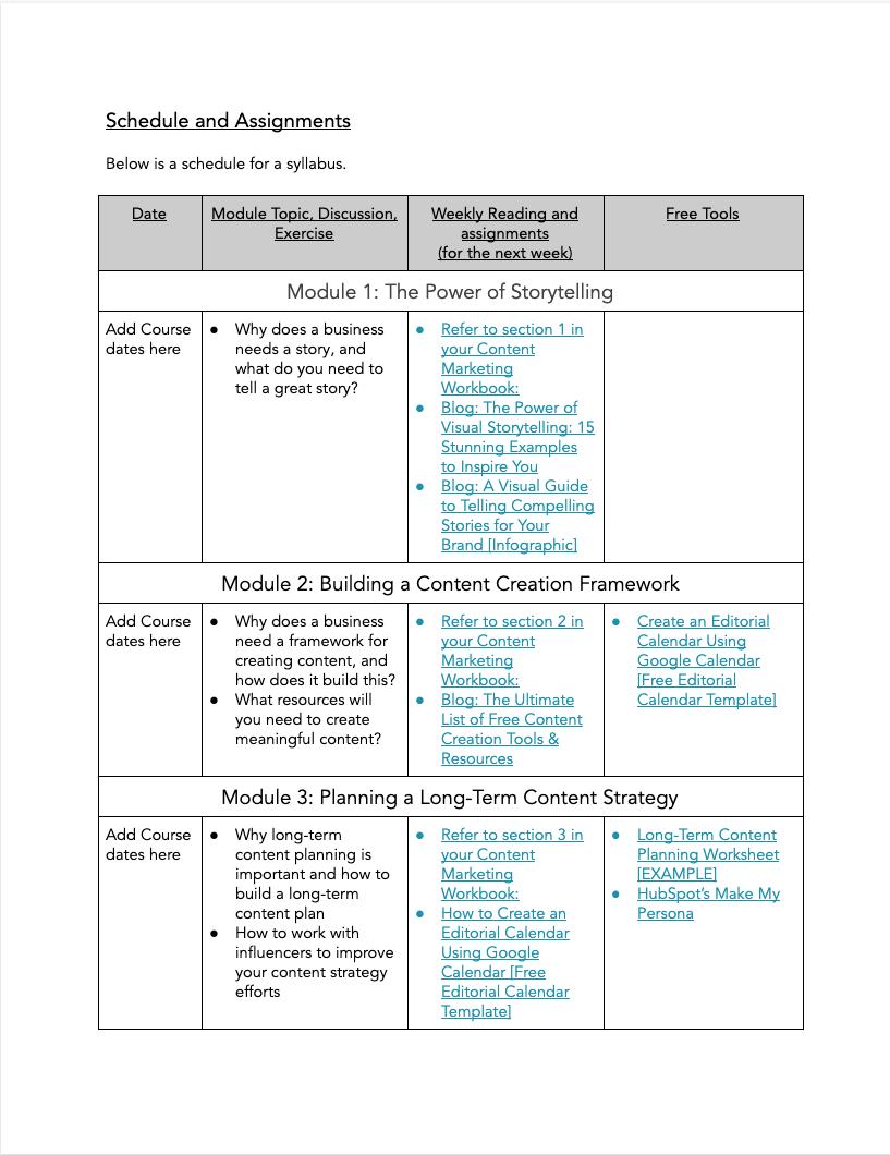 Content Marketing Syllabus - 3