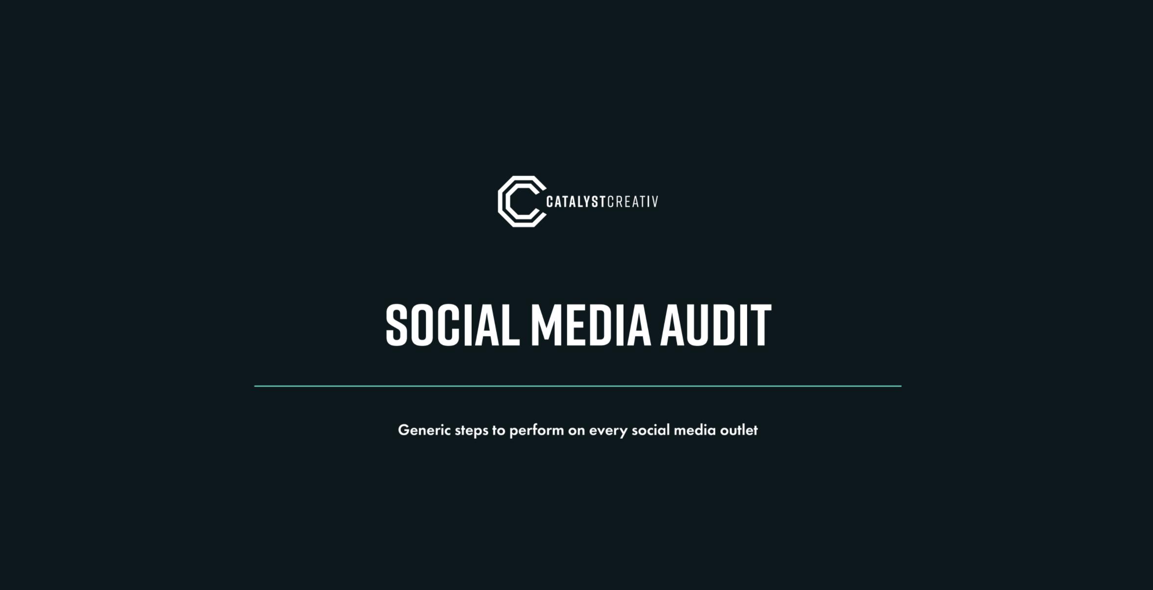 Education Partner Program x CatalysCreativ - Social Media Audit