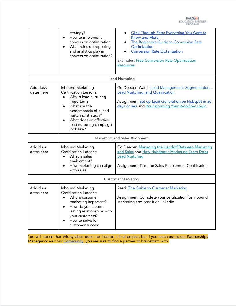 Inbound Marketing Syllabus - 6