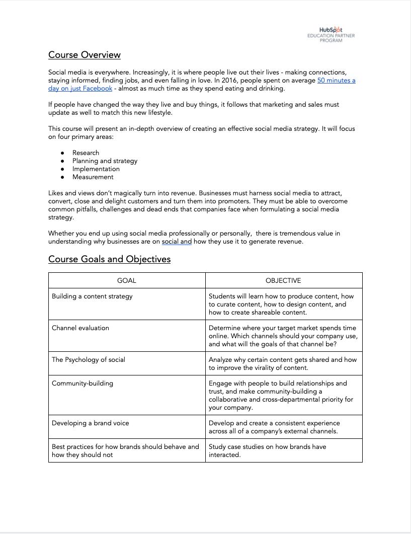 Social Media Syllabus - 1