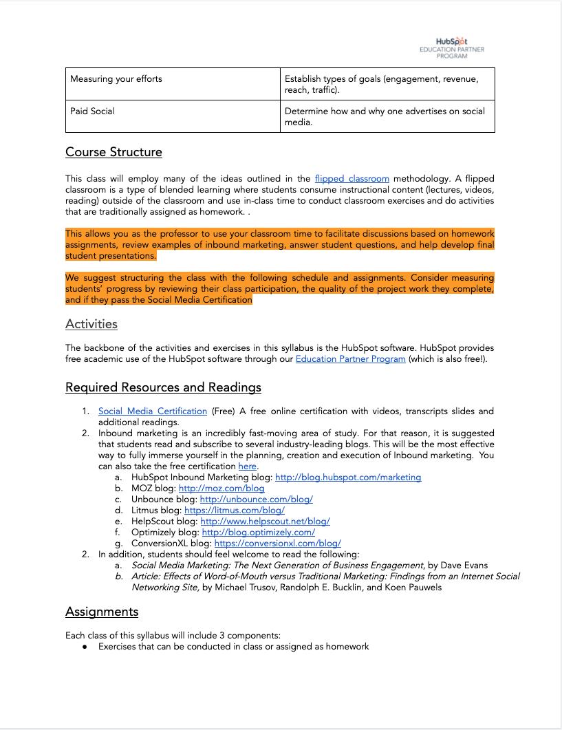 Social Media Syllabus - 2